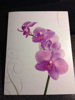 Purple Flower Note Card