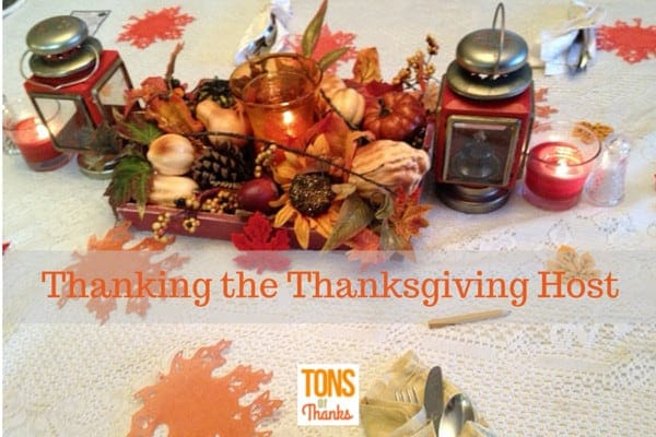 Thanking the Thanksgiving Day Host