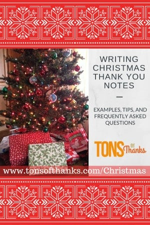 WRITING CHRISTMAS THANK YOU NOTES