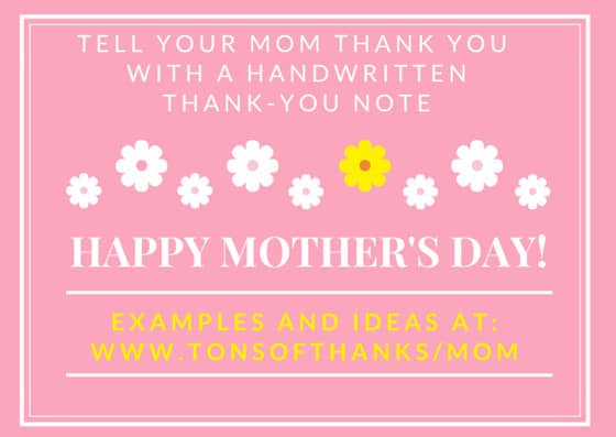 Thank your mom with handwritten thank-you note