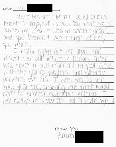 How to thank a teacher (example thank you notes included)