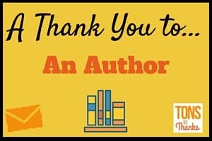 A Thank You to an Author