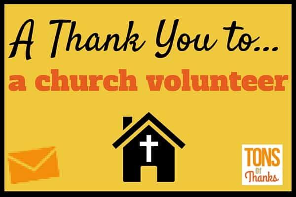 Volunteer Thank You Card |Thank You Church Volunteers