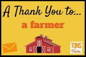 Thank You to a farmer