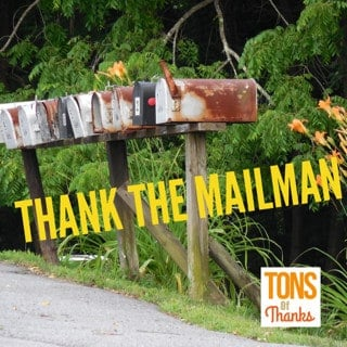 Thanking The Mailman Ideas And Thank You Note Examples