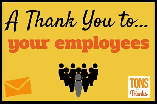 Sample Thank-You Letter to Employees
