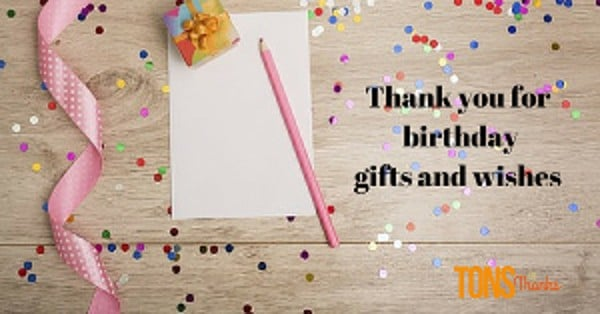 birthday thank you note